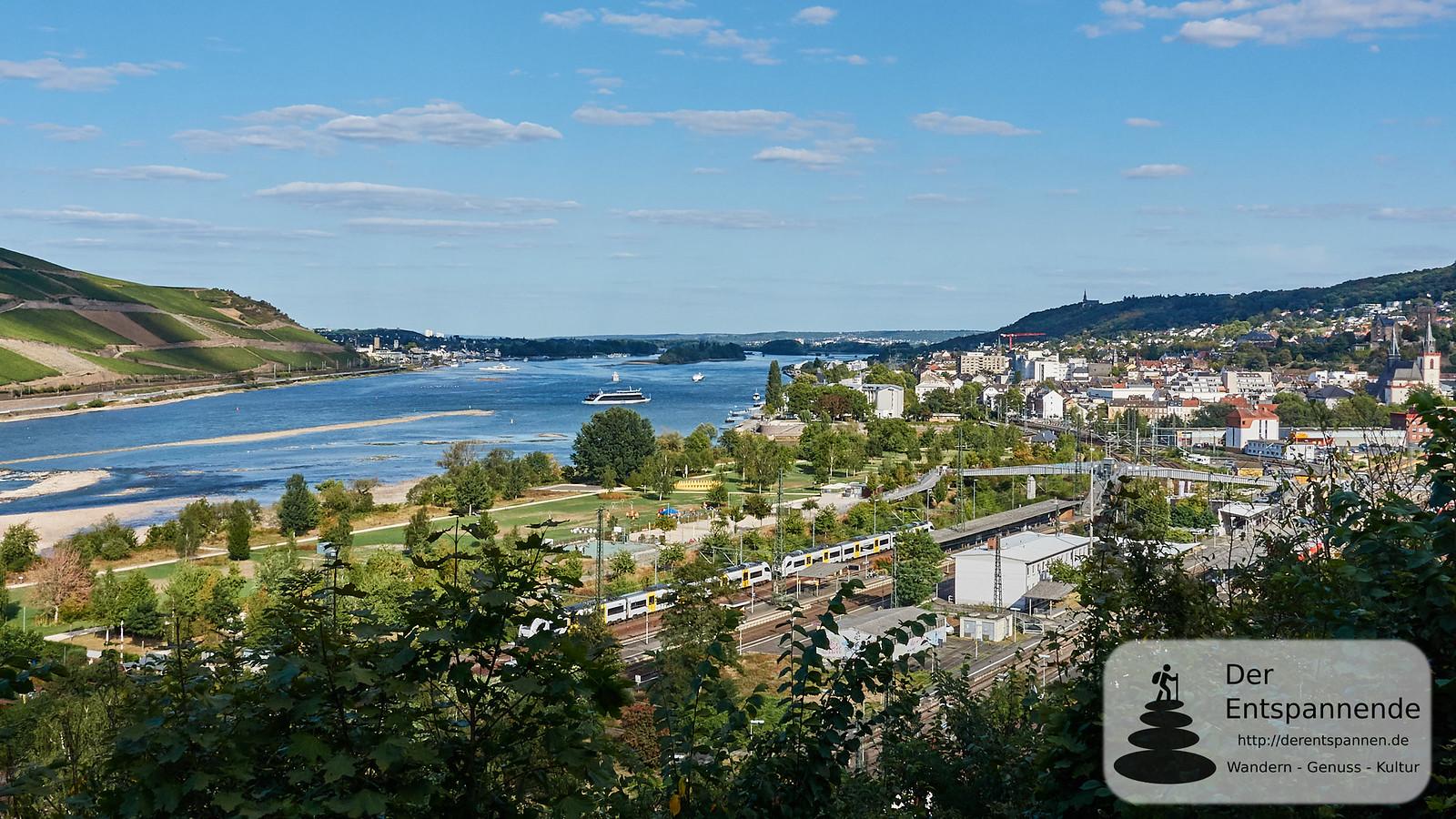 Bingen: Bahnhof und Park am Mäuseturm
