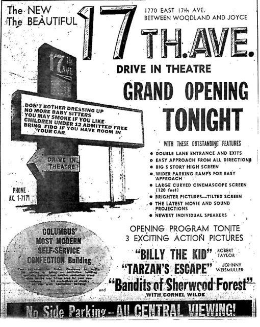 Columbus, Ohio cinema openings