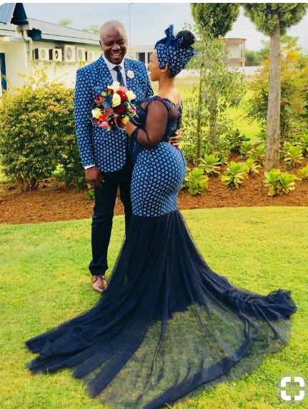South african traditional dresses 2019 Mr Shweshwe
