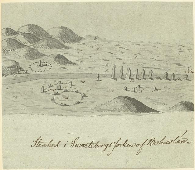 Ancient grave field, Stenehed, Svarteborg, Bohuslän, Sweden
