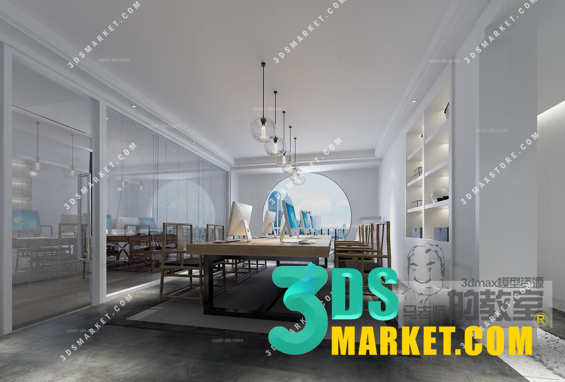 The Collection of Offices Interior 3D Scenes 09 - 3DS Market | Sell