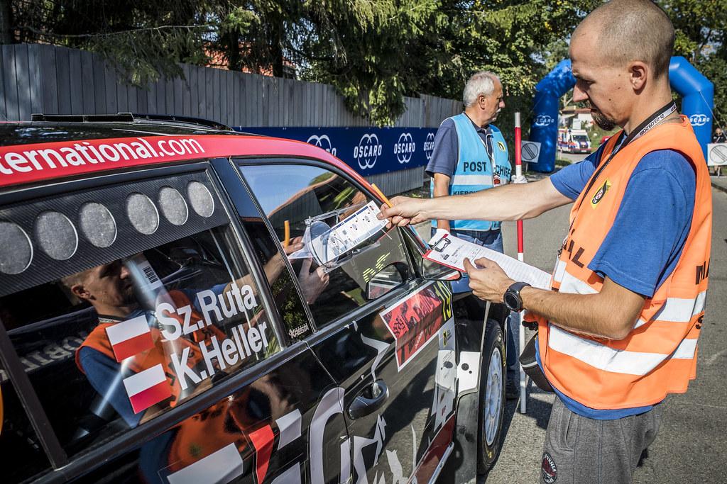 19 RUTA Szymon (POL), HELLER Kamil (POL), Skoda Fabia R5, action during the 2018 European Rally Championship PZM Rally Poland at Mikolajki from September  21 to 23 - Photo Gregory Lenormand / DPPI