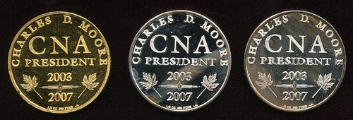 2007 CNA president's medals reverse