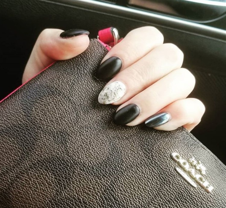 25+ Fabulous Black Matte Nail Art Designs Trendy Ideas