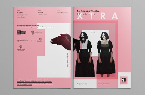 A Little Bit Extra, a publication for An Grianan Theatre designed by Donegal-based designer Daniel O'Donoghue of ODDesign. Selected for the 100 Archive 2017