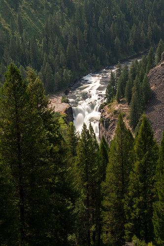 idaho landscape waterfall river