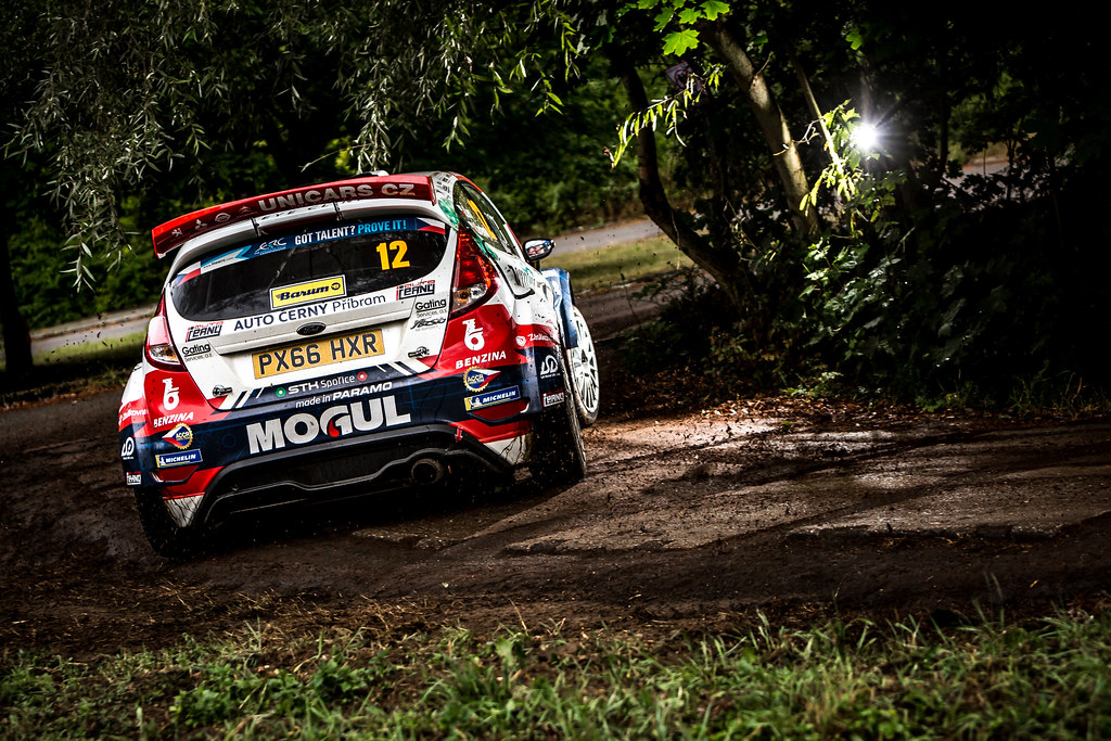 12 Cerny Jan, Cernohorsky Petr, CZE/CZE, ACCR Czech Rally Team, Ford Fiesta R5, Action during the 2018 European Rally Championship ERC Barum rally,  from August 24 to 26, at Zlin, Czech Republic - Photo Thomas Fenetre / DPPI