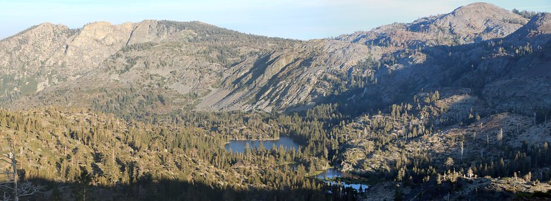 We took a walk south from camp and came upon a lovely view down to Grass Lake and Glen Alpine Creek