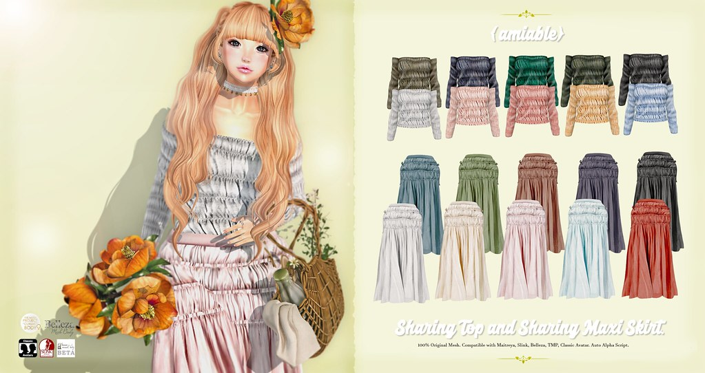 {amiable}Sharing Top & Maxi Skirt@the N°21 August(50%OFF SALE). - TeleportHub.com Live!