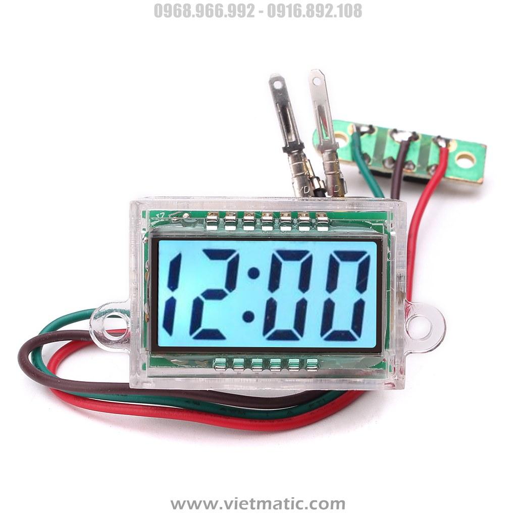 Đồng hồ LCD với đèn nền LED