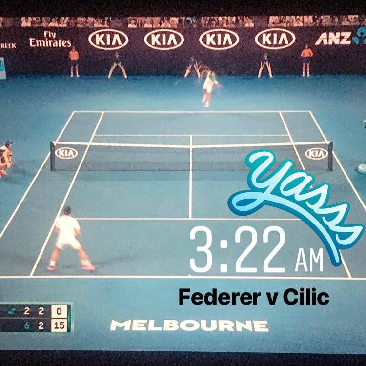 Screenshot of Australian Open final match
