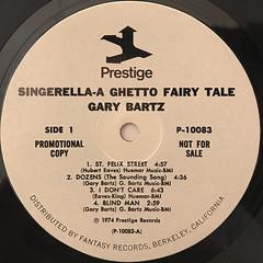 NTU WITH GARY BARTZ:SINGERELLA A GHETTO FAIRY TALE(LABEL SIDE-A)