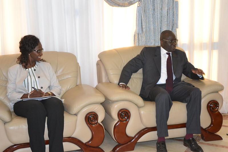 Delegation banque mondiale chez le PM KLassou