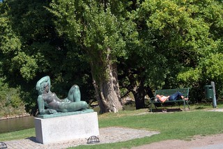Sunbathing in the park