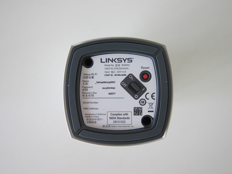 Linksys Velop (Dual-Band) - Bottom