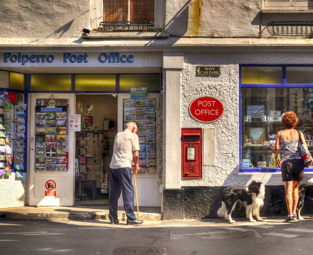 Polperro Post Office, Cornwall. Credit Baz Richardson, flickr