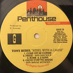 TONY REBEL:REBEL WITH A CAUSE(LABEL SIDE-B)