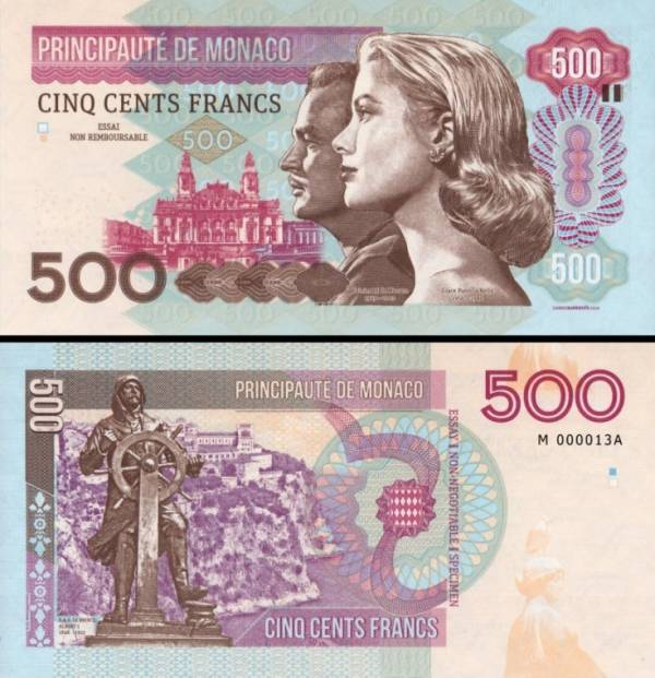 MONACO 500 Francs 2016 Grace Kelly