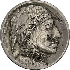 Hobo Nickel German Soldier obverse