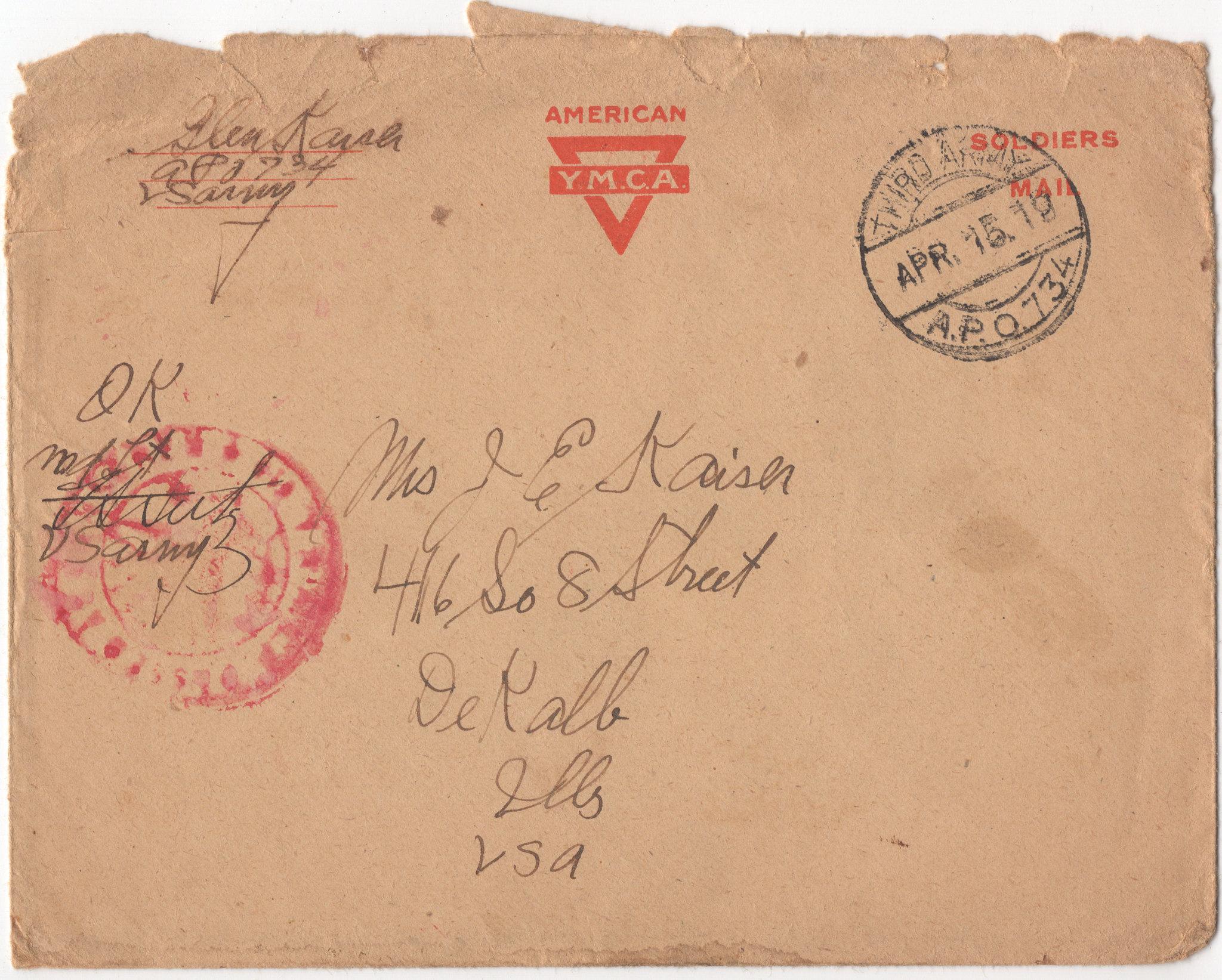Kaiser_Glenn_WWI_letter_1919-04-15_envelope