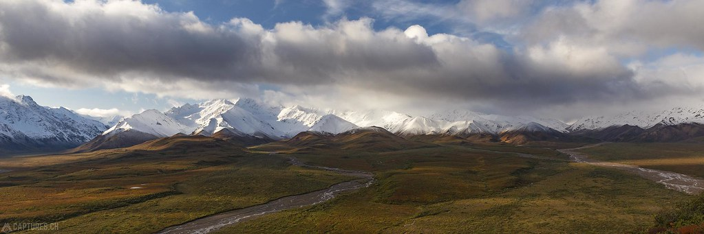 Panorama from the Polychrome Pass - Alaska