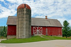 Long Red Barn from ca 1890's