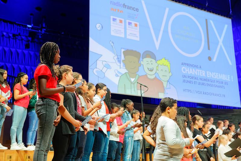 Lancement de Vox, ma chorale interactive, à la Maison de la radio