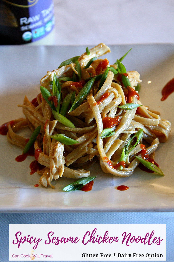 Spicy Sesame Chicken Noodles