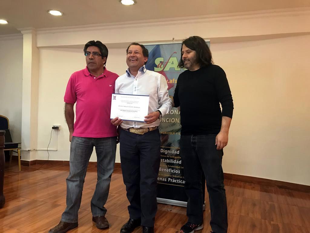 """Finaliza con éxito diplomado AFSAG en """"Negociación y Liderazgo Sindical"""" – 26 Octubre 2018"""