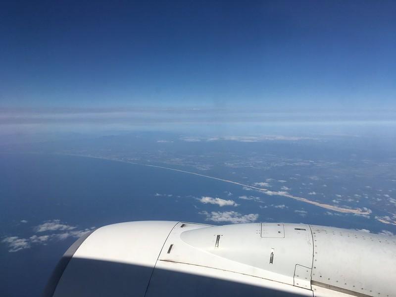 Plane over Brisbane, Australia