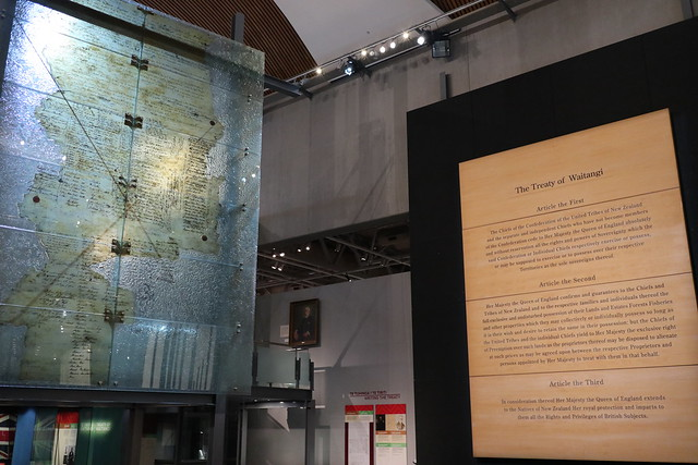 The Treaty Of Waitangi - Te Papa museum - Wellington New Zealand