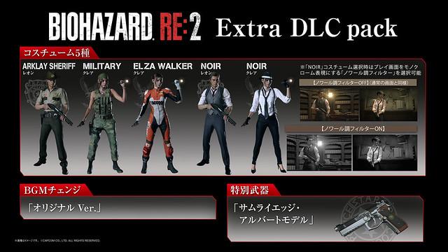 バイオハザードRE:2 Extra DLC pack