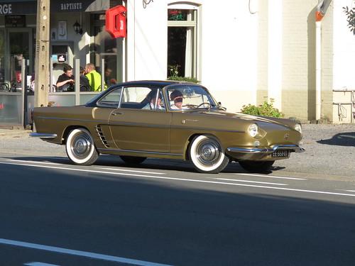 Passing classic car.