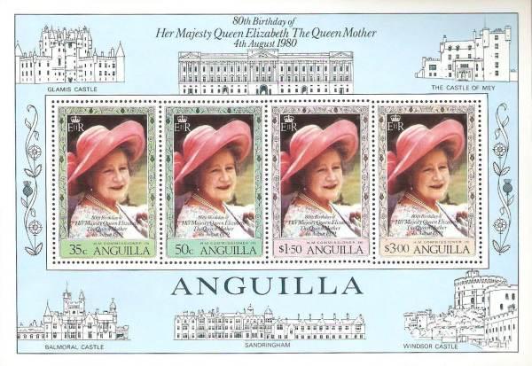 Známky Anguilla 1980 Kráľovna matka