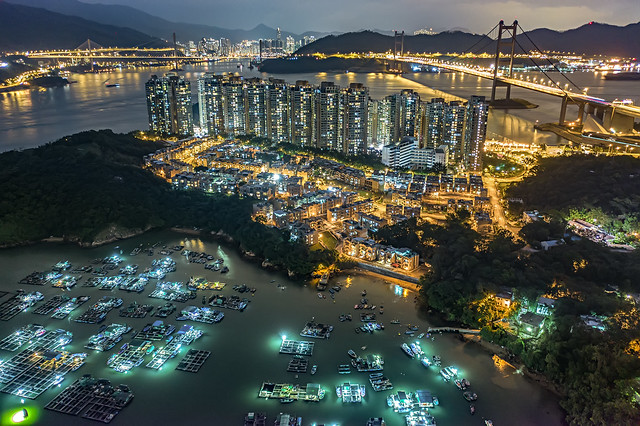 Night at Ma Wan, Hong Kong