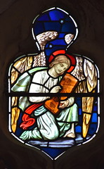 Angel playing a dulcimer (William Glasby, 1926)