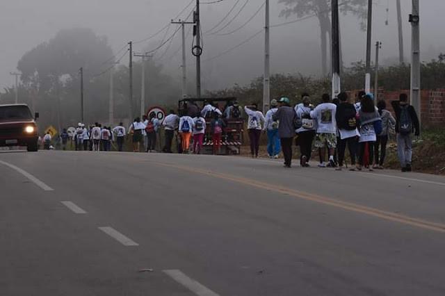 Centenas de romeiros participaram da 6ª Romaria da Fé de Ipu ao Santuário de Fátima