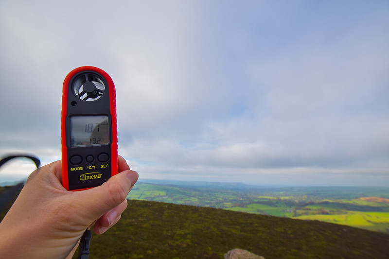 The Roaches - Peak District - ClimeMET Wind Meter
