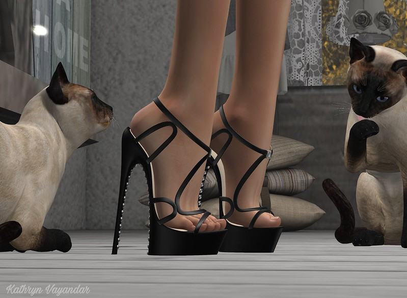 Two Cuties Inspecting Heels