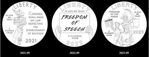 First Amendment coin designs