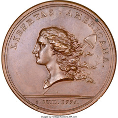 Libertas Americana Medal obverse
