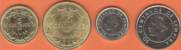 Honduras 5-10-20-50 Centavos 2014 UNC