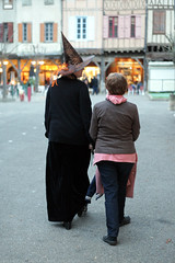 FR18 1266 Stephanie & her mother. Halloween. Mirepoix, Ariège - Photo of Saint-Quentin-la-Tour