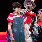 Seussical at the Arvada Center - L-R: Melissa Morris (Jojo) and Ben Griffin (Cat)  Matt Gale Photography 2018