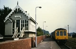 Class 114 DMU @ Gainsborough Lea Road, Lincolnshire, August 1984 [slide 8452]