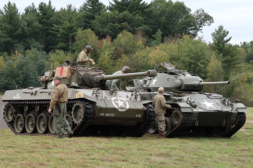 M18 Hellcat and M24 Chaffee