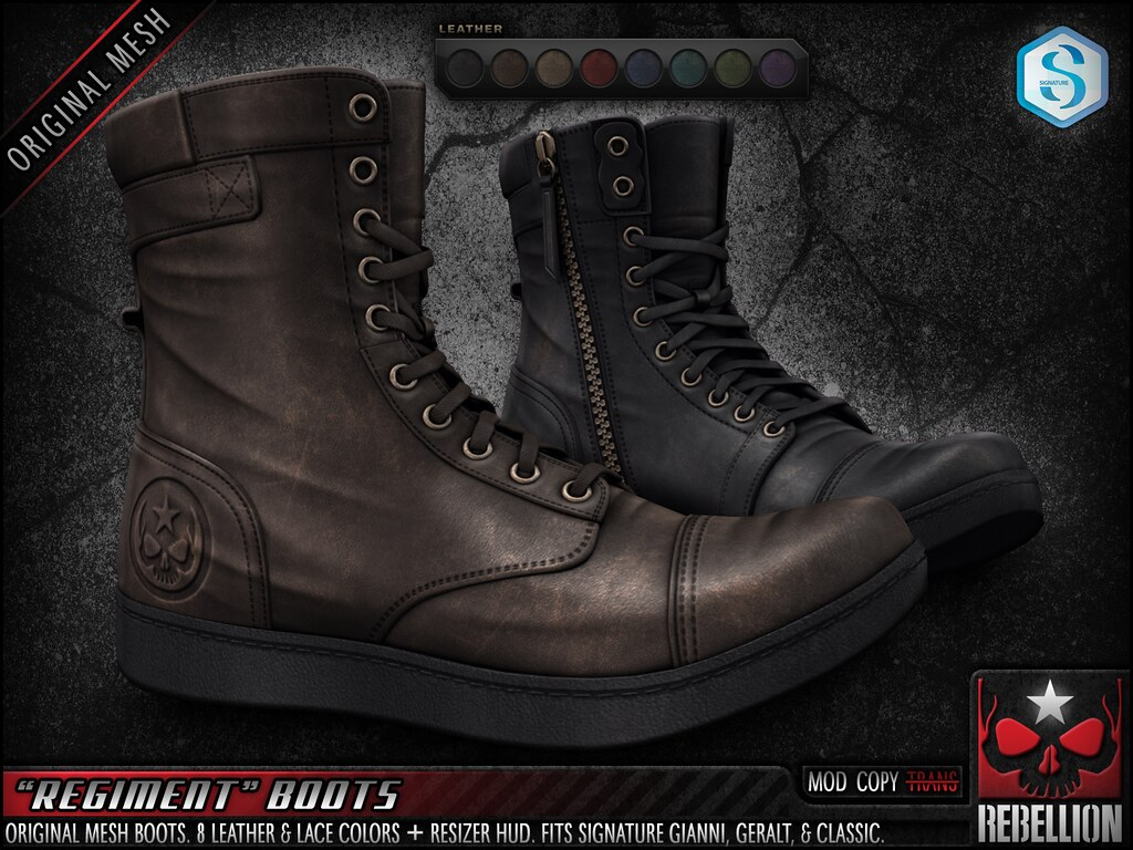 "= REBELLION = ""REGIMENT"" BOOTS"