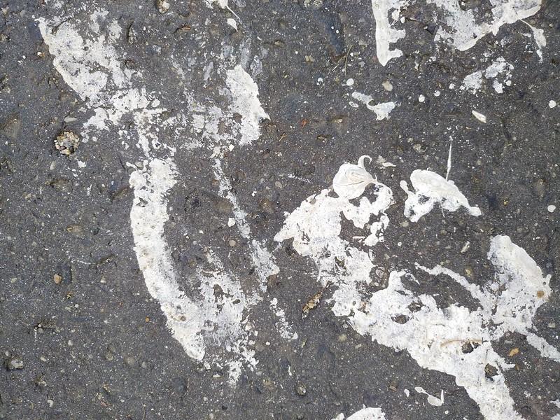 Asphalt texture with white dirt #2