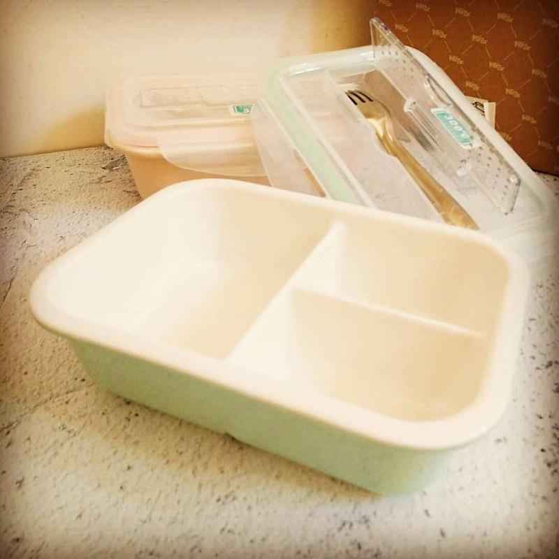 陶瓷分隔保鮮盒/陶瓷分格便當盒
