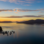 24. September 2018 - 8:24 - Aerial DJI Mavic Pro 2 Anacortes Ferry Sunset